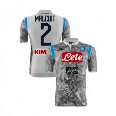 Napoli 2018/19 Third Stadium #2 Kevin Malcuit Light Gray Jersey - Authentic