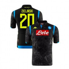 Napoli 2018/19 Champions League Away #20 Piotr Zielinski Black Jersey - Authentic
