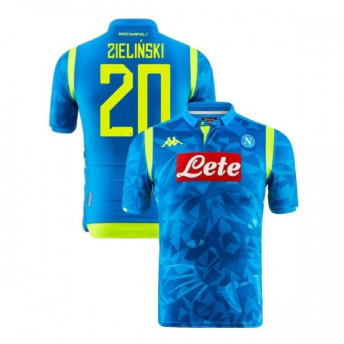 Napoli 2018/19 Champions League Home #20 Piotr Zielinski Sky Blue Jersey - Replica