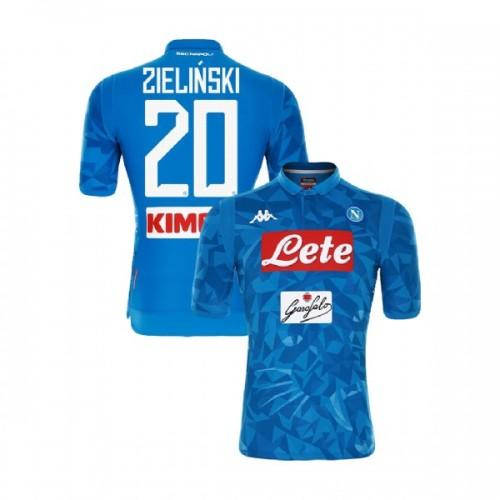Napoli 2018/19 Home Stadium #20 Piotr Zielinski Sky Blue Jersey - Authentic