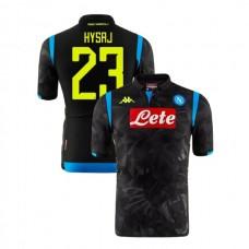 Napoli 2018/19 Champions League Away #23 Elseid Hysaj Black Jersey - Authentic