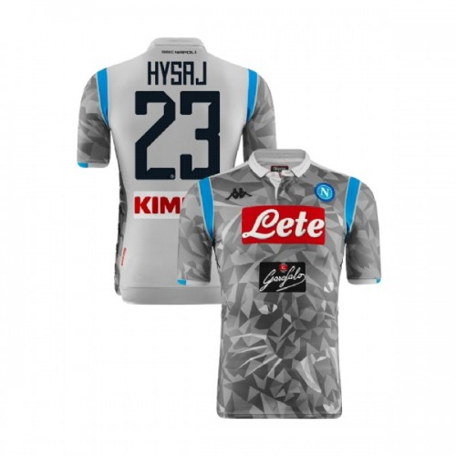 Napoli 2018/19 Third Stadium #23 Elseid Hysaj Light Gray Jersey - Replica