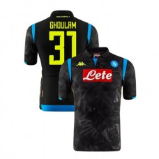 Napoli 2018/19 Champions League Away #31 Faouzi Ghoulam Black Jersey - Authentic