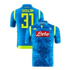 Napoli 2018/19 Champions League Home #31 Faouzi Ghoulam Sky Blue Jersey - Authentic