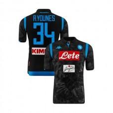 Napoli 2018/19 Away Stadium #34 Amin Younes Black Jersey - Authentic
