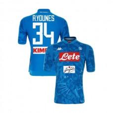 Napoli 2018/19 Home Stadium #34 Amin Younes Sky Blue Jersey - Authentic