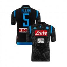Napoli 2018/19 Away Stadium #5 Allan Black Jersey - Authentic