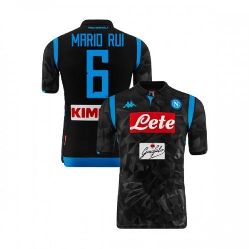 Napoli 2018/19 Away Stadium #6 Mario Rui Black Jersey - Replica