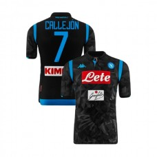 Napoli 2018/19 Away Stadium #7 Jose Callejon Black Jersey - Authentic