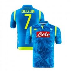 Napoli 2018/19 Champions League Home #7 Jose Callejon Sky Blue Jersey - Authentic