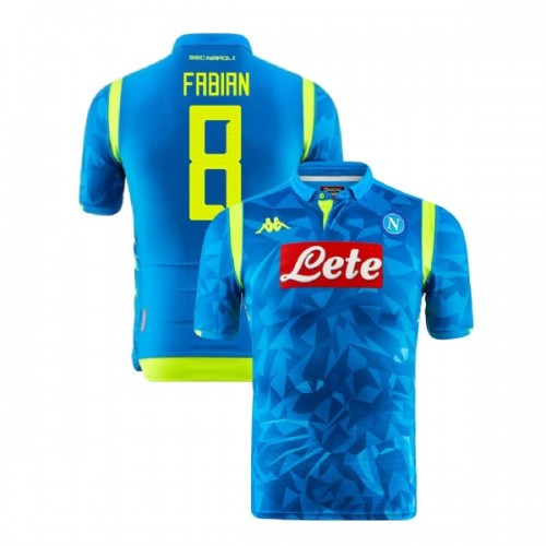 Napoli 2018/19 Champions League Home #8 Fabian Ruiz Sky Blue Jersey - Replica