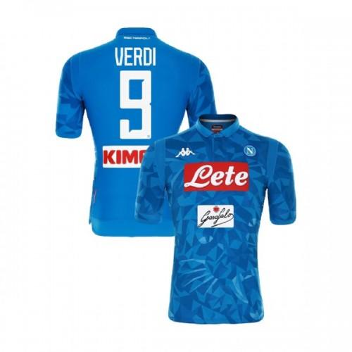 Napoli 2018/19 Home Stadium #9 Simone Verdi Sky Blue Jersey - Authentic