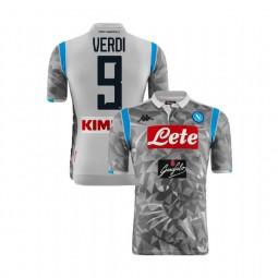 Napoli 2018/19 Third Stadium #9 Simone Verdi Light Gray Jersey - Replica