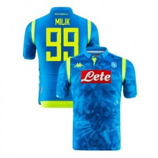 Napoli 2018/19 Champions League Home #99 Arkadiusz Milik Sky Blue Jersey - Authentic